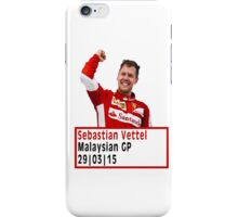 Sebastian Vettel - Malaysian Grand Prix (2015) iPhone Case/Skin
