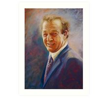 Portrait of Dick  Art Print