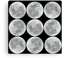 """Moon Pattern 9""  Canvas Print"