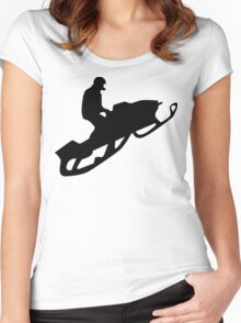 snowmobile silhouettes Women's Fitted Scoop T-Shirt