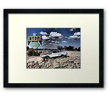 Pie Town, New Mexico on Pi Day 3/14/15 Framed Print