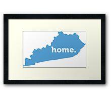Kentucky Home Blue Framed Print