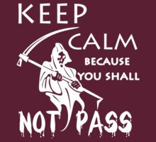 keep calm because you shall not pass by hottehue