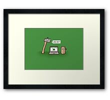 Log out Framed Print