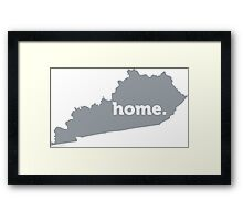 Kentucky Home Grey Framed Print