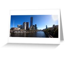 Melbourne Pano 01 Greeting Card