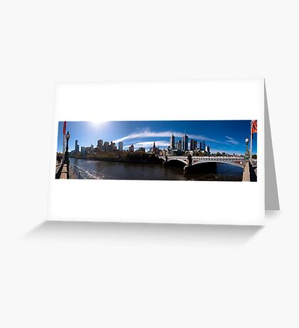 Melbourne Pano 02 Greeting Card