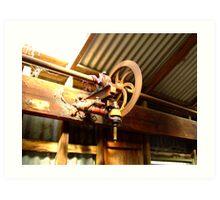 Shearing shed mechanicals Art Print