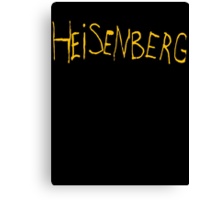 Heisenberg Graffiti Canvas Print
