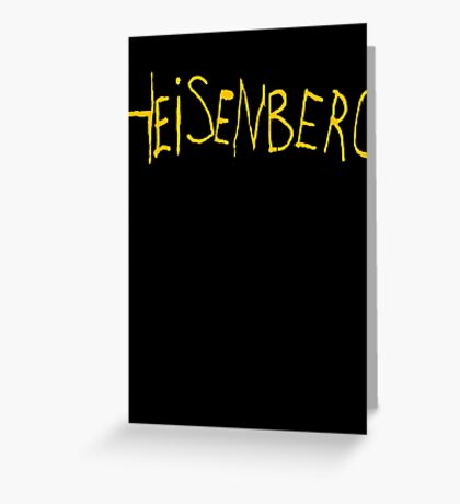 Heisenberg Graffiti Greeting Card