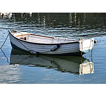 Small Boat At Lyme Harbour  Nov 6th 2012 Photographic Print