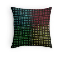 Fossil Wave Abstract Throw Pillow