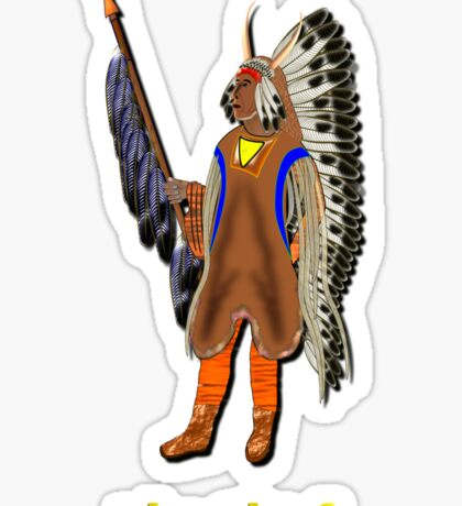 A Mandan Red Indian Chief, Rocky Mountains, North America Sticker