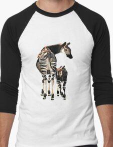 Okapi and Calf  Men's Baseball ¾ T-Shirt