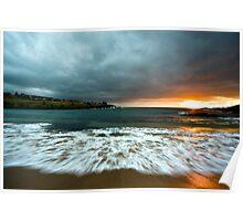 Sunrise Over Sea. Poster