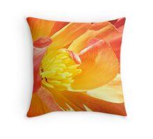 fiery flora Throw Pillow