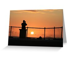 Watching the sunrise from Wreck Point Greeting Card