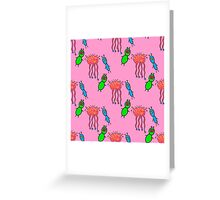 seamless pattern with cute aliens. Cute kids doodle sketch. Greeting Card