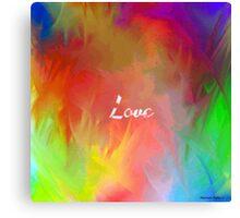 Multi-Colored Love  Canvas Print