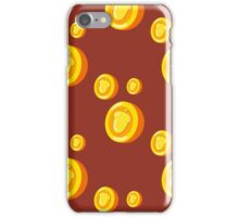 seamless pattern with gold coins which depicts a nut. Cute background iPhone Case/Skin
