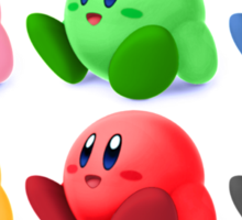 Kirby Colors Sticker