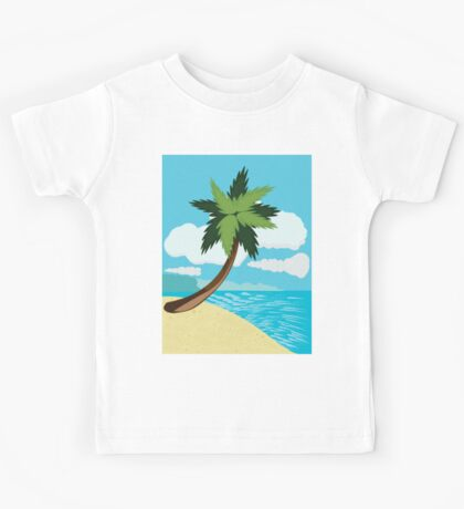 Beach and tropical sea 2 Kids Tee