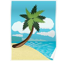 Beach and tropical sea 2 Poster