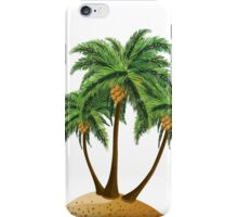 Cartoon island with palms iPhone Case/Skin