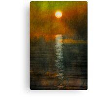 Atlantic Ocean. Moonlight Canvas Print