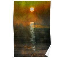 Atlantic Ocean. Moonlight Poster