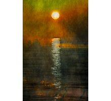 Atlantic Ocean. Moonlight Photographic Print