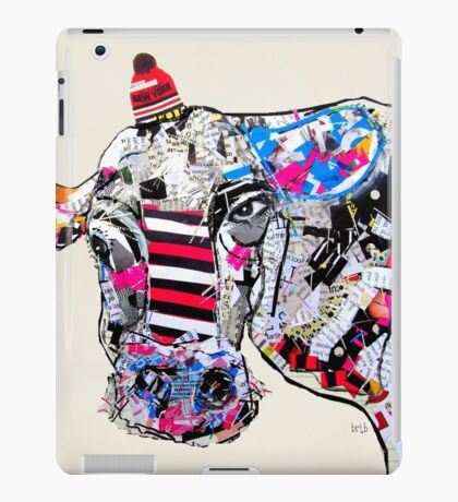 cow in new york  iPad Case/Skin