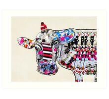 cow in new york  Art Print