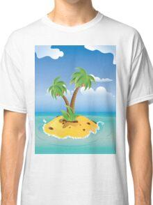 Cartoon Palm Island Classic T-Shirt
