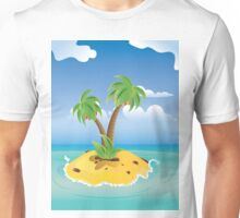Cartoon Palm Island Unisex T-Shirt