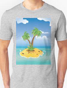Cartoon Palm Island T-Shirt