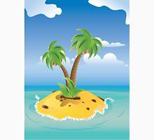 Cartoon Palm Island Unisex T-Shirt