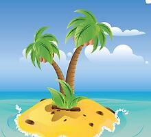 Cartoon Palm Island by AnnArtshock