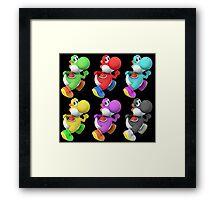 Yoshi colors Framed Print