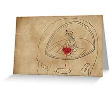 I live like a hermit in my own head... Greeting Card