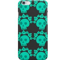 seamless pattern with skulls and roses. Mexican Day of the Dead. Cute doodle drawing iPhone Case/Skin