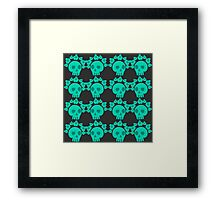 seamless pattern with skulls and roses. Mexican Day of the Dead. Cute doodle drawing Framed Print