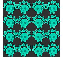 seamless pattern with skulls and roses. Mexican Day of the Dead. Cute doodle drawing Photographic Print