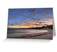 Colourful Sunset at Redcliffe Greeting Card