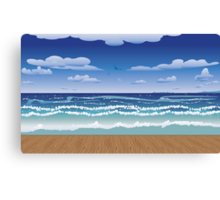 Jetty and sea Canvas Print