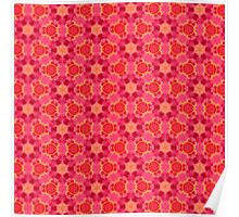 Red Pattern Poster