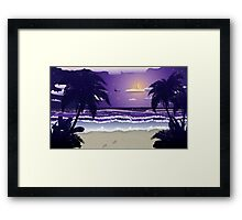 Night beach Framed Print