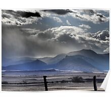March Clouds Gather Near Cimarron, New Mexico Poster