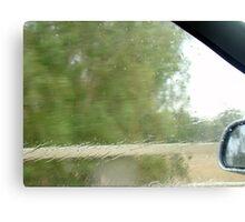 driving rain Canvas Print