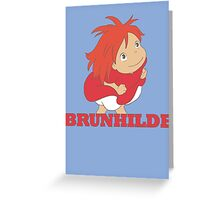 Ponyo - Brunhilde Greeting Card